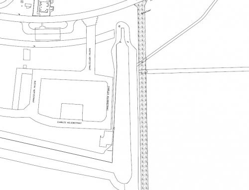 Tijdelijke bouwweg voor bouwveld 6